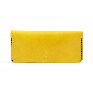 Women Double Long Wallet Yellow