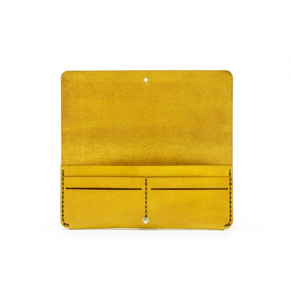 Women Clutch Wallet Yellow
