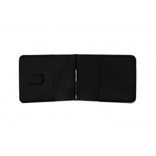Men Spring Money Clip Wallet Black