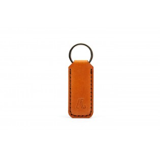 Wide Keychain Brown