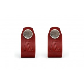 Set of 2 Cable/Headphone Holders Bordeaux