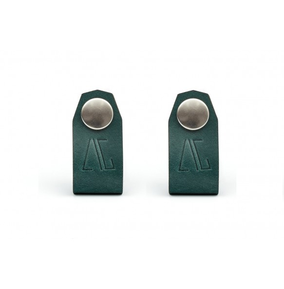 Set of 2 Cable/Headphone Holders Green