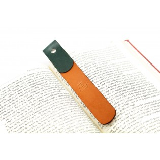 Studded Bookmark in Natural/Green