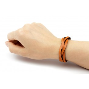 Braided Leather Bracelet Brown