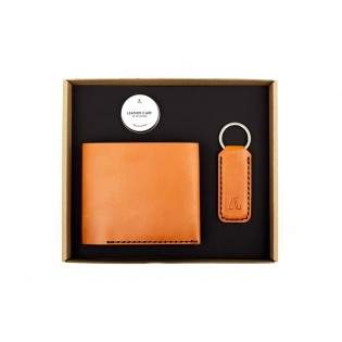 Men Classic IOAN Wallet/Wide Keychain Set