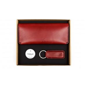 Women Double Long Wallet/Wide Keychain Set