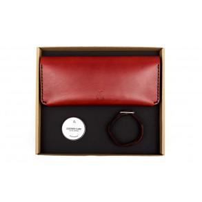 Women Double Long Wallet/Braided Bracelet Set