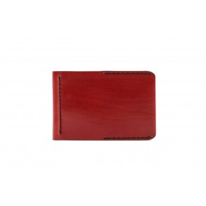 Men Spring Money Clip Wallet Bordeaux