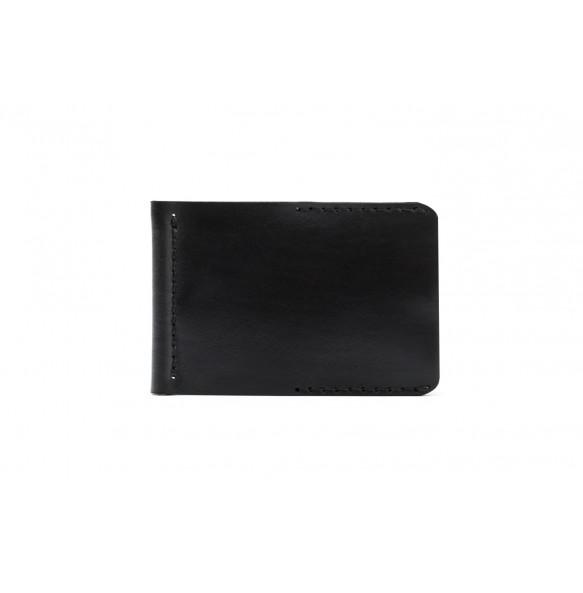 Men Spring Money Clip Wallet Black