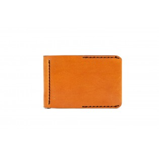 Men Spring Money Clip Wallet Brown