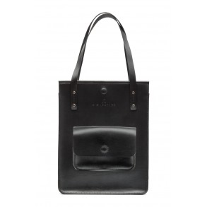 Black CASUAL Bag with External Pocket