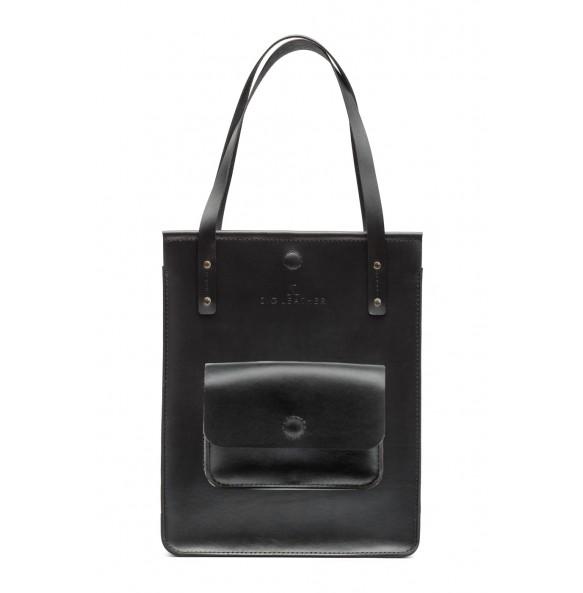 Black CASUAL Bag with External Pocket