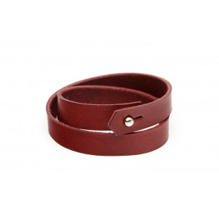 Double Wrap Bracelet Bordeaux