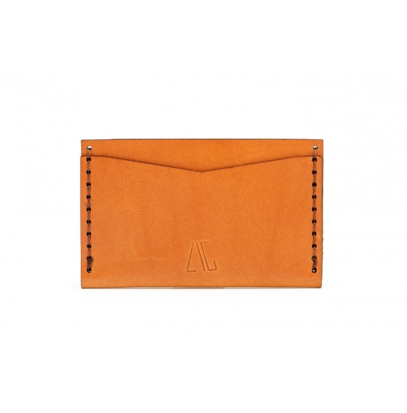 Double Card Holder  Brown