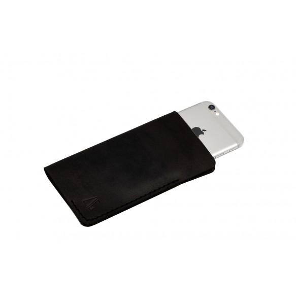 Husa iPhone 6/7 din Piele Naturala Neagra