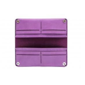 Women Double Long Wallet Purple
