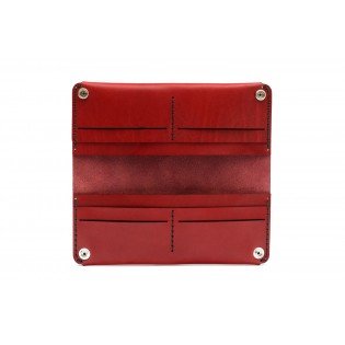Women Double Long Wallet Bordeaux