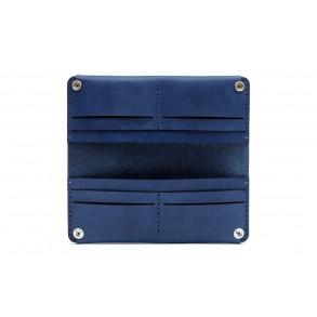 Women Double Long Wallet Blue