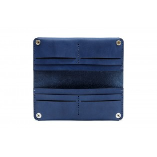 Women Double Long Wallet Blue