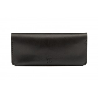 Women Double Long Wallet Black