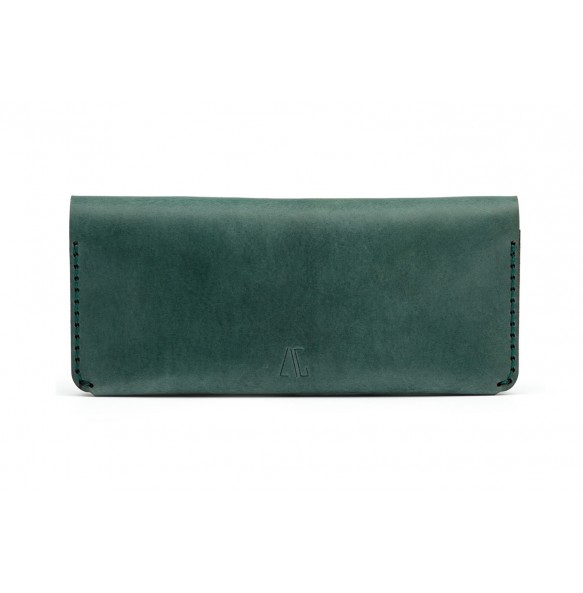 Women Double Long Wallet Green