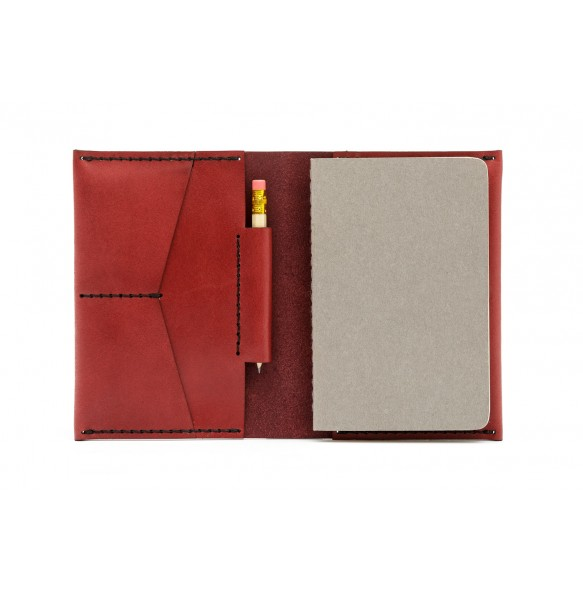 Passport/notebook wallet Bordeaux