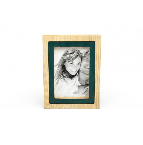 Wood and leather Picture Frame