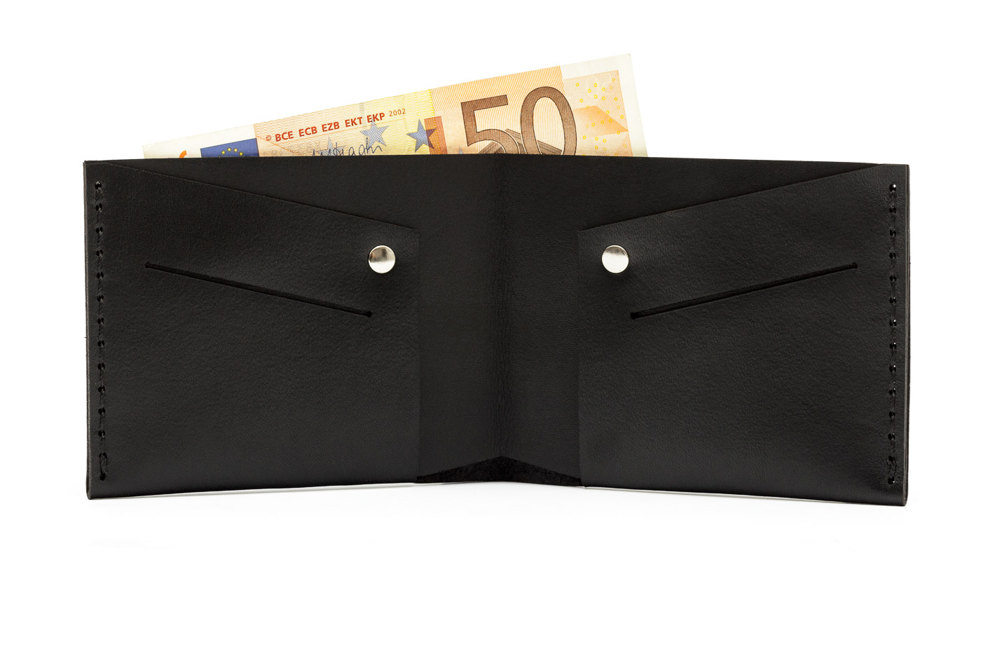 black classic leather wallet