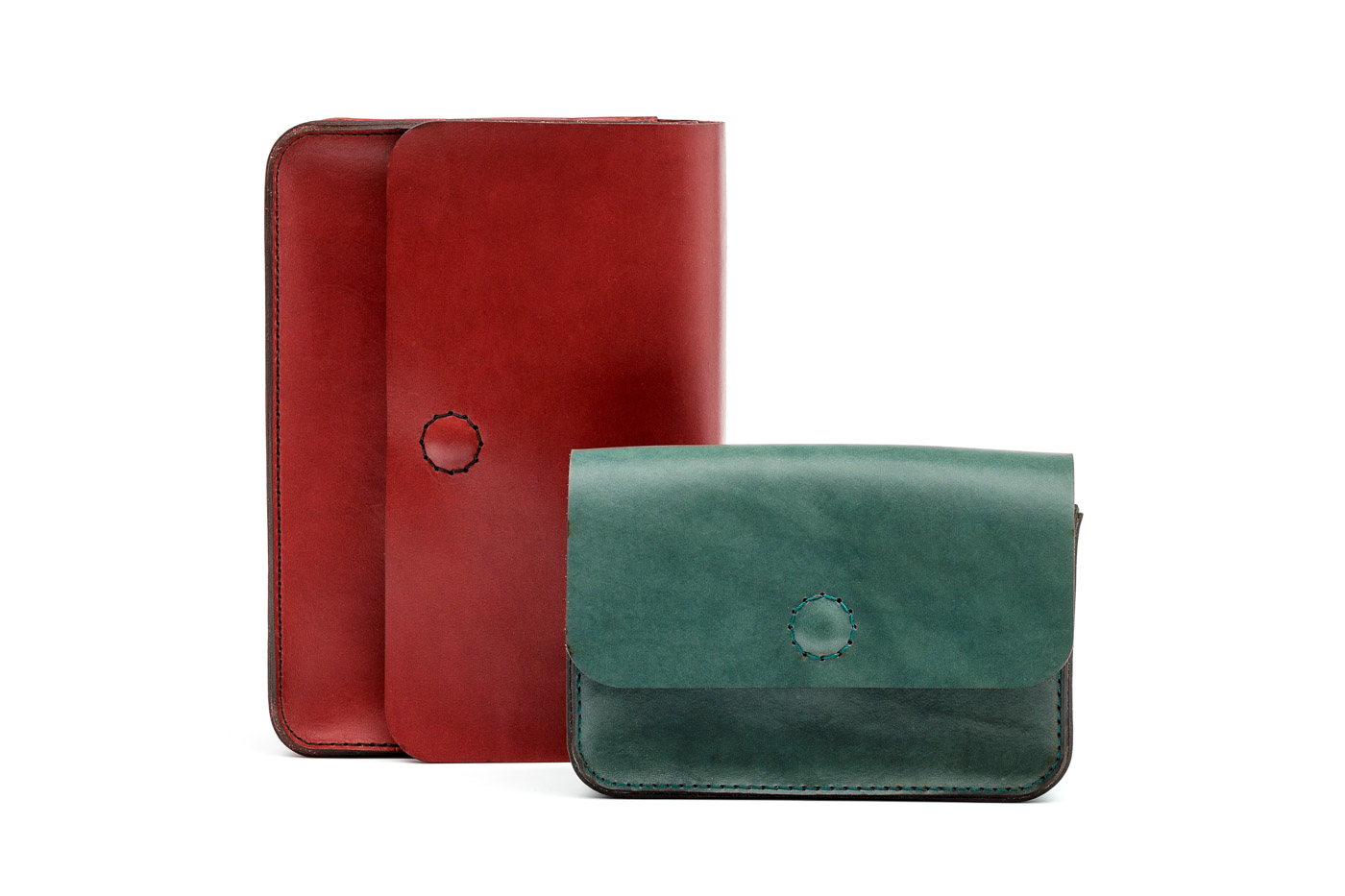 leather bags in various colors